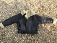 Dark Brown Wool Lined Flying Jacket