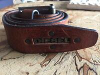 Brown leather Diesel belt