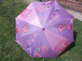 Peppa Pig, Spiderman and Winnie the Pooh umbrellas