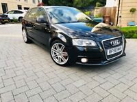 AUDI A3 2.0 TDI S-LINE FACELIFT MODEL 2009 REGISTERED MOT 1 YEAR IMMACULATE CONDITION WITH LEATHER