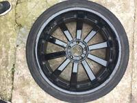 "Bmw x5 Black Alloy wheels 22"" inch x 9j 5x120 VW Volkwagen Amarok Touareg transporter T5 T6"
