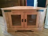 Wood veneer tv cabinet.
