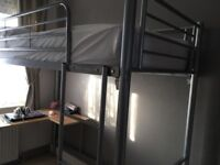 Cabin bed with desk for sale
