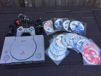PlayStation 1 console and games. Ps1