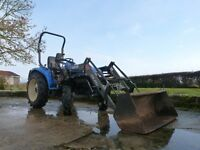 New Holland TC27D Compact Tractor complete with Front Loader and Bucket
