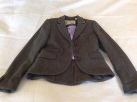 Jack wills beautiful green tweed blazer/ jacket size 12