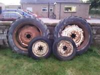 David brown tractor rims and tyres