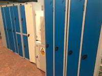 Dark Blue & Grey Single Lockers