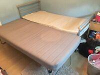 Single metal framed bed & FREE underbed trundle bed