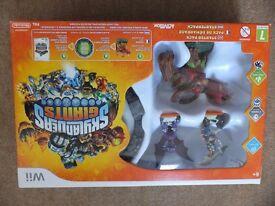 Nintendo Wii Skylander Giants Starter Pack plus Mario Kart with wheel