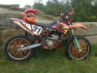 KTM sxf 250 swaps must be on road like dr 600 or xt 350