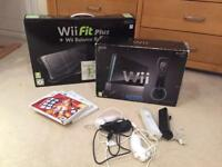 Wii (Black) with Wii Fit Plus and Balance Board