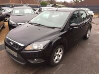 2008/58 FORD FOCUS 1.6 ZETEC 5 DOOR, BLACK, IN EXCELLENT CONDITION, LOOKS AND DRIVES WELL