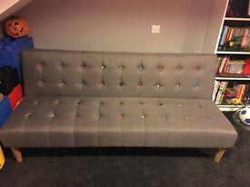 GREY SOFA BED IN EXCELLENT CONDITION