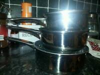 Set of 3 pans new