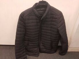 Black Mens Zara BASIC QUILTED JACKET XL