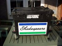 large Shakespeare fishing box with legs.