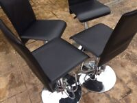 4 Black and sliver chairs