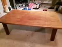 Lovely coffee table made from solid Mahogony in good condition