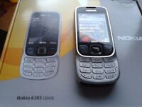 NOKIA 6303 CLASSIC MOBILE PHONE IN MINT CONDITION GREAT RELIABLE SOUND RECEPTION