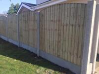 👑Excellent Quality Bow Top Feather Edge New Fence Panels • Heavy Duty