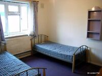 Bed in a room to share with A BOY in QUEEN'S PARK