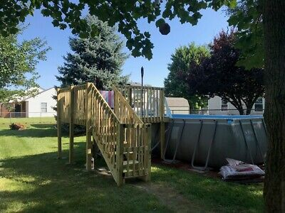 8'x8' DIY Deck , Fence, Ladder & Enclosure Gate Kit, SWIMMING POOL ENTRY SYSTEM