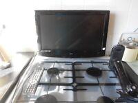 portable tv combie