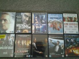 Job Lot 10 DVD's, Used. Would suit car booter. Collection Kirkby in Ashfield NG17