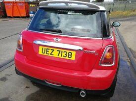 Mini Cooper 2008 Red 1.6 Diesel