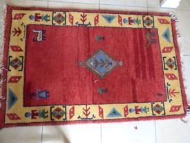 Aztec Rug - Red and Yellow - 155cm by 96cm