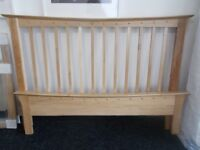 Brand New Oak Double Bed Frame