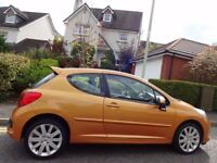 (2007) PEUGEOT 207 GT 1.6 HDi 3dr SP SPORTS KIT, BURNT ORANGE, FSH, 9 STAMPS, MASSIVE SPEC, PAN ROOF