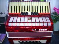 MEDIUM SIZED PIANO ACCORDION IDEAL CHRISTMAS PRESENT