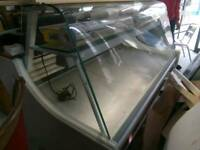 Free local delivery display chiller fridge. Hinged open front face Excellent working order.