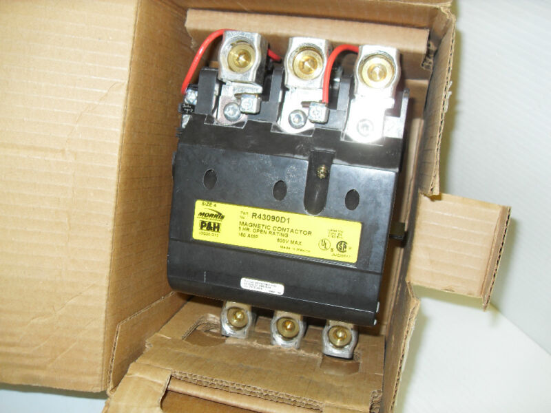 *NEW*  P&H HARNISCHFEGER R43090D1 CRANE CONTACTOR Size-4 150-Amp 3-Pole 43Q20