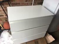 IKEA malm chest of drawers 3 white