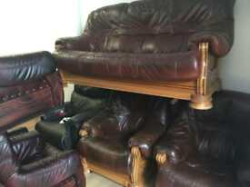 Leather quality secondhand leather suites from £295