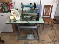 BROTHER INDUSTRIAL SEWING MACHINE WITH OVERLOCKER