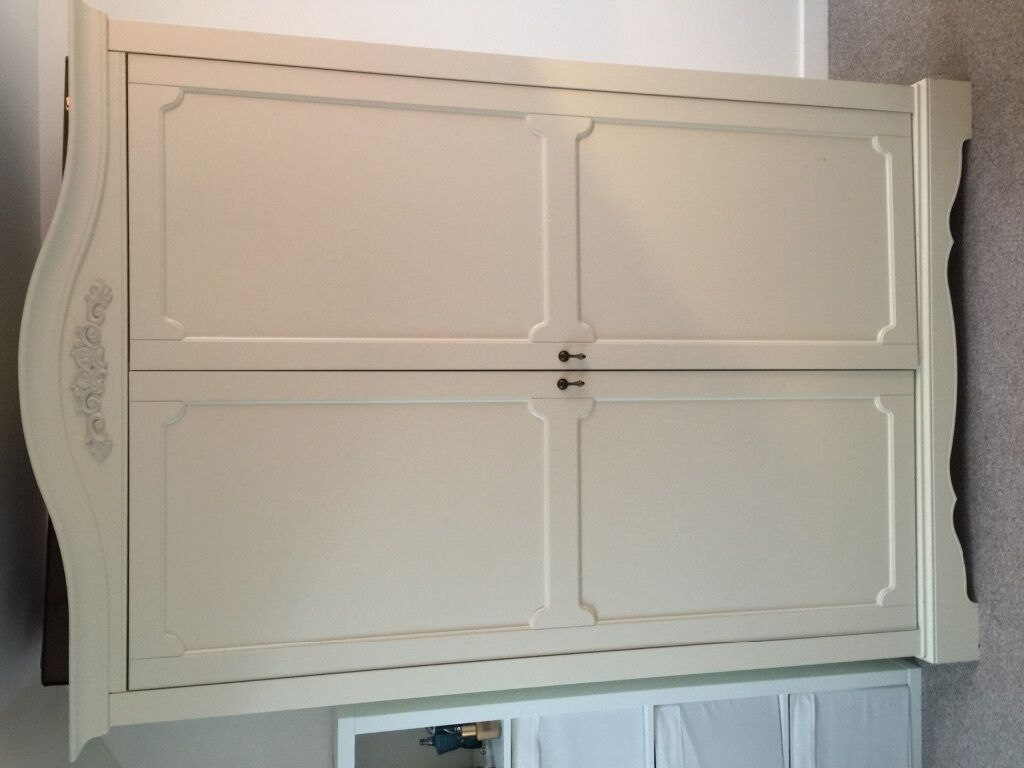 next isabella wardrobe ivory shabby chic in currie. Black Bedroom Furniture Sets. Home Design Ideas