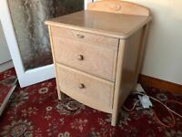 Stag limed oak tallboy and matching drawers
