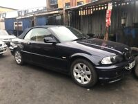 BMW 318Ci CONVERTIBLE, 2.0 PETROL, 2003, MANUAL, FOR SPARES OR REPAIRS