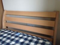 Bedroom furniture - matching single bed, bedside unit & chest of drawers. Free mattress