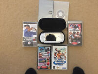Sony PSP for sale with 6 games