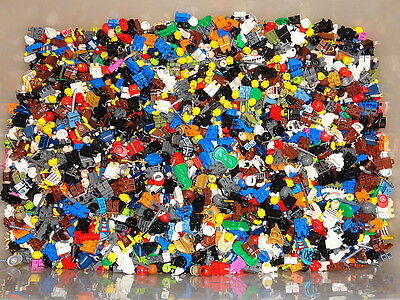 1/4 Pound Lego Minifig Parts & Pieces HEADS LEGS BODY star wars ninjago city