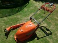 Flymo lawnmower and strimmer set