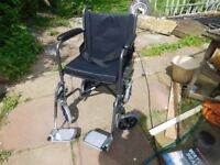 FOLDING WHEELCHAIR LIGHTWEIGHT GOOD CONDITION WITH CUSHION