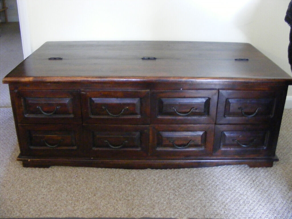 Dark Wood Storage Coffee Table Buy Sale And Trade Ads