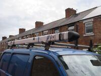 rhino van roof pipe carrier