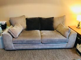 2 x 3 seater fabric sofa (can be sold together or separate) EXCELLENT CONDIDTION